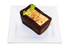 Omeleta no pão imagens de stock