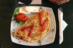 Omeleta no restaurante Imagem de Stock Royalty Free
