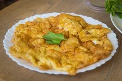Omeleta tailandesa do estilo Imagens de Stock