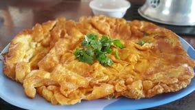Omeleta tailandesa e coentro Fotos de Stock Royalty Free