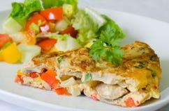 Omeleta vegetal Imagens de Stock Royalty Free
