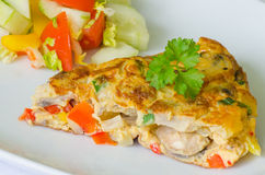Omeleta vegetal Fotos de Stock