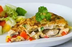 Omeleta vegetal Foto de Stock