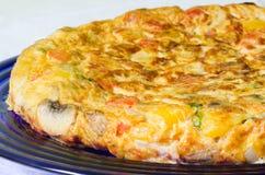 Omeleta vegetal Imagem de Stock