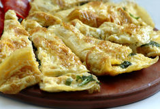 omelete έτοιμος Στοκ Εικόνες