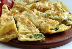 Omelete pronto Fotografia Stock
