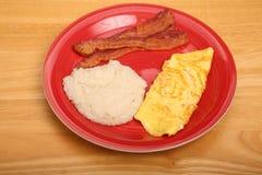 Omeletgrutten en Bacon Stock Afbeelding