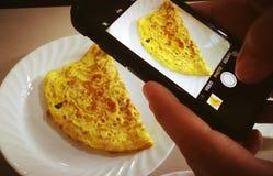 Omelett Stockbild