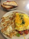 Omelett chaleureux image stock