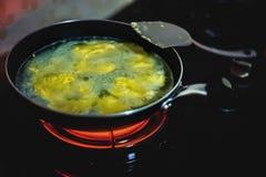 Omelett in der Suppe Stockfotografie