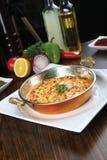 Omelett in der Wanne Stockfotos