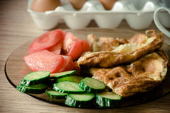 Omelett för breakfas Royaltyfri Bild