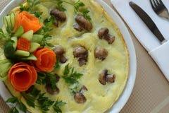 Omelett med champinjoner Royaltyfri Foto