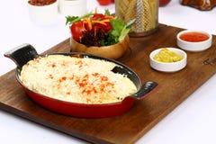 Omelett med franska småfiskar royaltyfria bilder