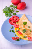 Omelett med grönsaker Royaltyfri Bild