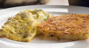 Omelett mit Artischockenfüllung Stockfoto
