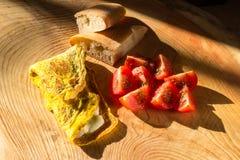 Omelett mit Käse Lizenzfreies Stockfoto