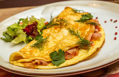 Omelett mit Kräutern und Gemüse Lizenzfreies Stockfoto