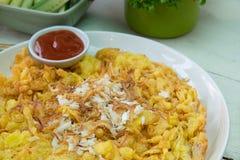 Omelett mit Krabbe Lizenzfreie Stockbilder