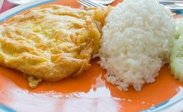 Omelett mit Reis lizenzfreie stockfotos