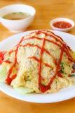 Omelett mit Reis Lizenzfreies Stockfoto