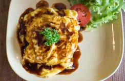 Omelett mit Reis Lizenzfreie Stockbilder