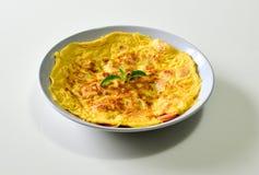 Omelett mit thailändischer Art der Wurst Stockbilder