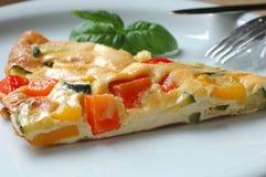 Omelett mit Tomaten Lizenzfreies Stockbild