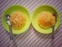 Omelett och ris Royaltyfri Bild