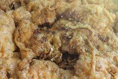 Omelett-Schweinekotelett-Rezeptnahaufnahme Lizenzfreie Stockfotos