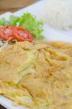 Omelette asiatica di stile Immagini Stock