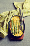 Omelette with asparagus Royalty Free Stock Photo