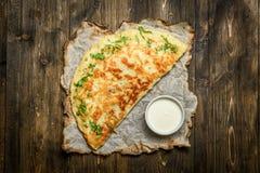 Omelette avec de la sauce Image libre de droits
