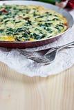 Omelette avec des épinards Image libre de droits