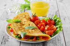 Omelette avec des légumes Photo libre de droits