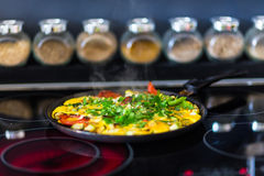 Omelette avec des légumes Photographie stock libre de droits