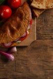 Omelette avec des légumes image libre de droits