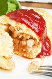 Omelette avec du riz Photographie stock