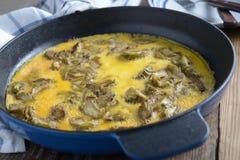 Omelette avec l'artichaut Photo libre de droits
