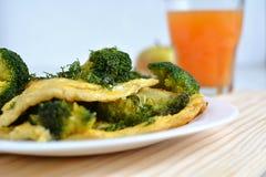 Omelette avec le brocoli Image libre de droits