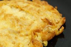 Omelette avec le champignon de couche Images stock