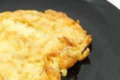 Omelette avec le champignon de couche Photographie stock