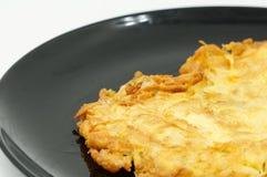 Omelette avec le champignon de couche Image libre de droits