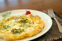 Omelette avec le fenouil Photographie stock libre de droits