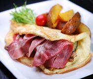 Omelette with bacon Stock Image