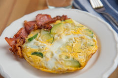 Omelette with bacon Royalty Free Stock Photography