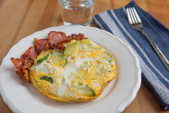 Omelette with bacon Royalty Free Stock Photos