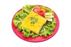 Omelette bourrée Photo stock