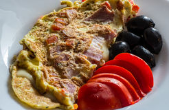 Omelette with cheese Stock Photos