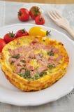 Omelette con bacon fotografia stock